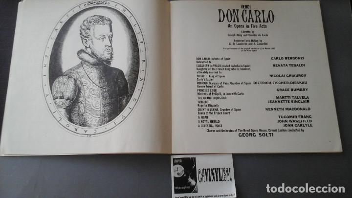 Discos de vinilo: Verdi - Solti - Don Carlo - Caja con 4 Lps Decca ?– SET 305/08 - Foto 2 - 171188950