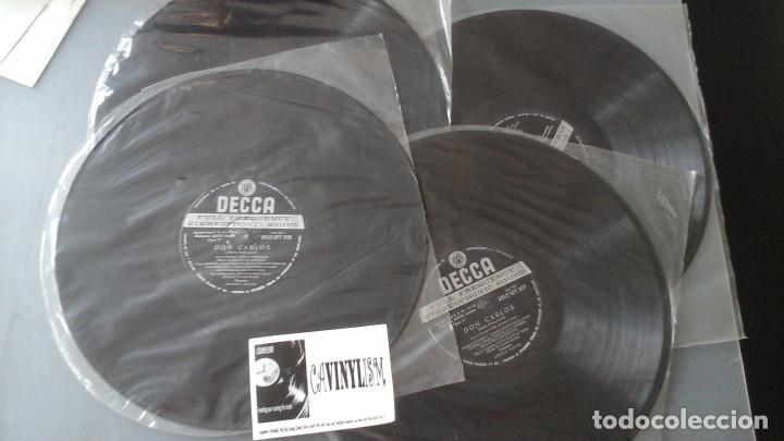 Discos de vinilo: Verdi - Solti - Don Carlo - Caja con 4 Lps Decca ?– SET 305/08 - Foto 3 - 171188950