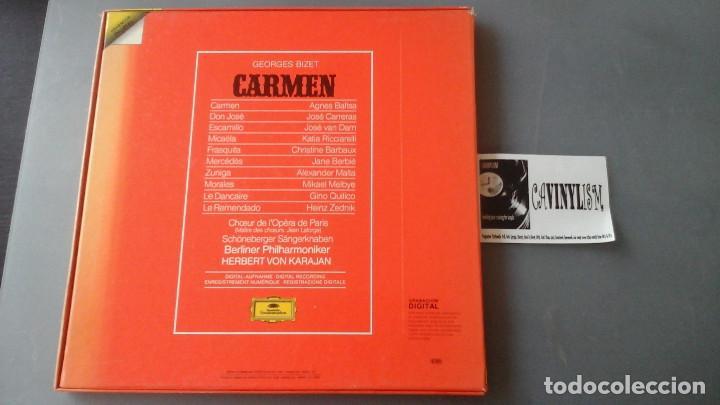 Discos de vinilo: Bizet - Karajan - Carmen Caja con 3 Lps Deutsche Grammophon 2741 025 - Foto 2 - 171189053