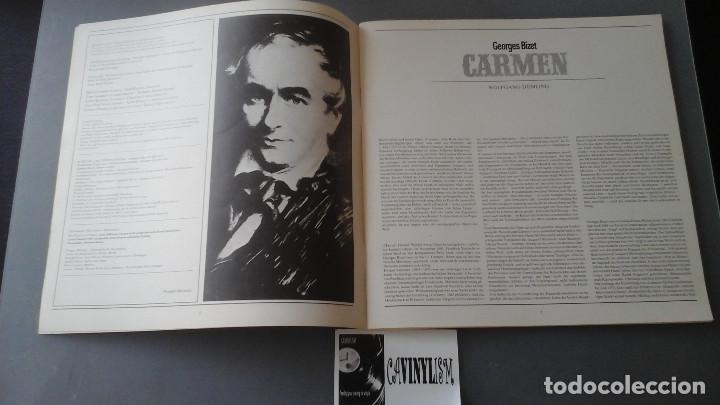 Discos de vinilo: Bizet - Karajan - Carmen Caja con 3 Lps Deutsche Grammophon 2741 025 - Foto 3 - 171189053