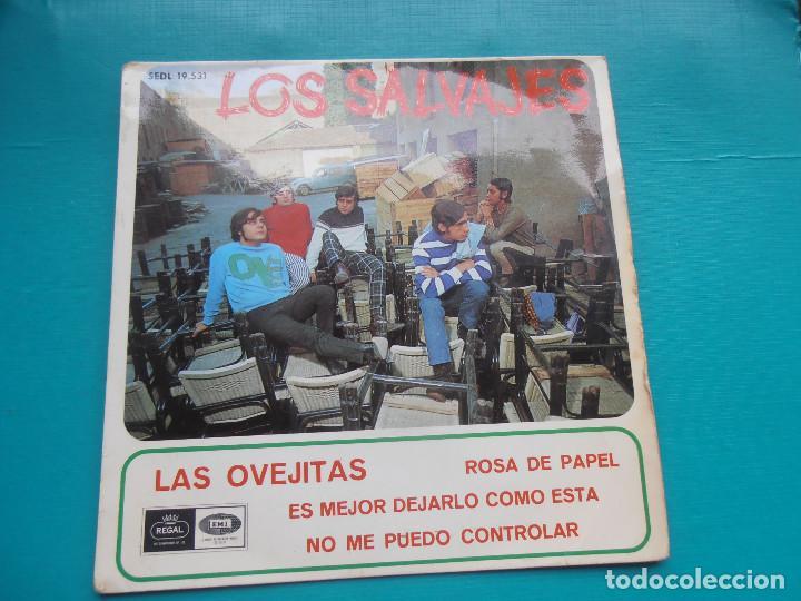 SINGLE LOS SALVAJES - LAS OVEJITAS - ROSA DE PAPEL (Música - Discos - Singles Vinilo - Grupos Españoles 50 y 60)