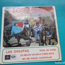 Discos de vinilo: SINGLE LOS SALVAJES - LAS OVEJITAS - ROSA DE PAPEL. Lote 171203819