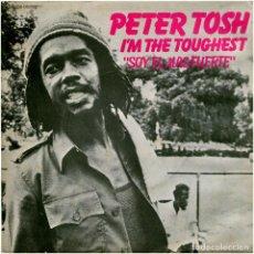 Discos de vinilo: PETER TOSH – I'M THE TOUGHEST - SG PROMO SPAIN 1979 - ROLLING STONES RECORDS 10 C 006-062585. Lote 171205010