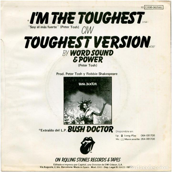 Discos de vinilo: Peter Tosh – Im The Toughest - Sg promo Spain 1979 - Rolling Stones Records 10 C 006-062585 - Foto 2 - 171205010