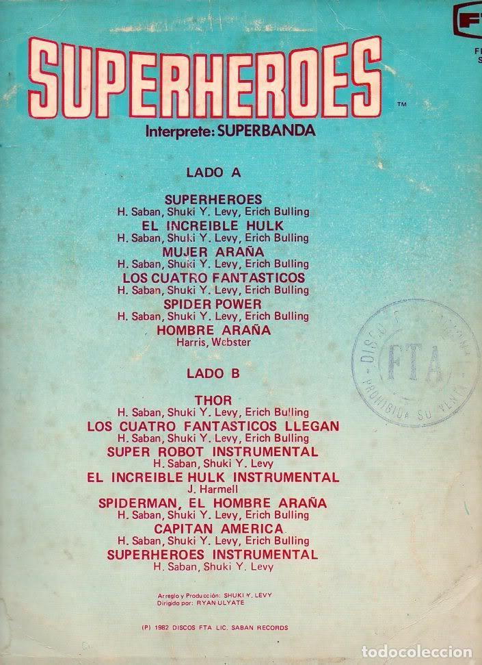 Discos de vinilo: Long Play Superheroes Capitan Memo Aguirre Superbanda Fta Flps-375 Perú Stereo 1982 Saban Records - Foto 2 - 171205874