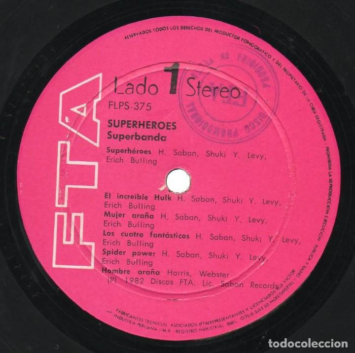 Discos de vinilo: Long Play Superheroes Capitan Memo Aguirre Superbanda Fta Flps-375 Perú Stereo 1982 Saban Records - Foto 3 - 171205874