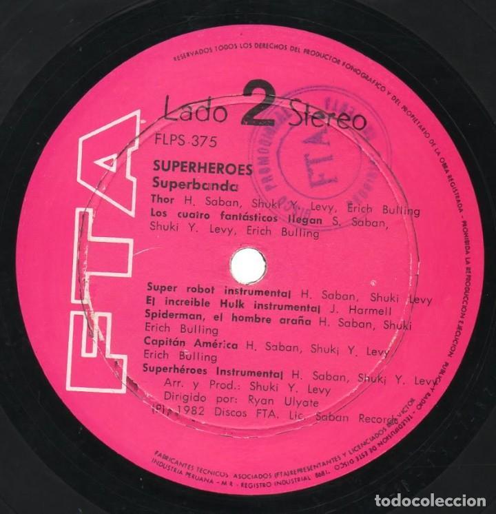 Discos de vinilo: Long Play Superheroes Capitan Memo Aguirre Superbanda Fta Flps-375 Perú Stereo 1982 Saban Records - Foto 4 - 171205874