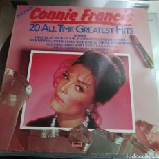 Discos de vinilo: CONNIE FRANCIS - 20 ALL THE GREATEST HITS. Lote 171208543