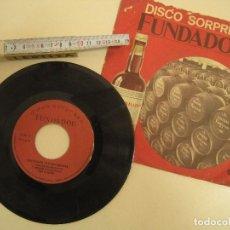 Discos de vinilo: 9 SINGLES SORPRESA DE PUBLICIDAD FUNDADOR OBJETO CURIOSO 45 RPM AÑOS 70 GRUPOS SORPRESA. Lote 171210963