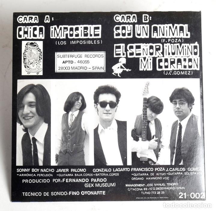 Discos de vinilo: LOS IMPOSIBLES. CHICA IMPOSIBLE / SOY UN ANIMAL / EL SEÑOR ILUMINO MI CORAZON. SUBTERFUGE 1990 - Foto 3 - 171213885