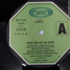 Discos de vinilo: LP - HABÍA UNA VEZ UN CIRCO - GABY, FOFÓ Y MILIKI CON FOFITO - 1973 - SOLO DISCO, NO INCLUYE FUNDA. Lote 198548778