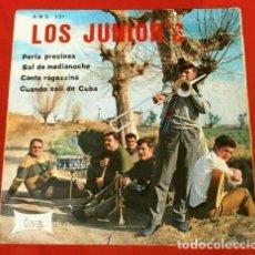 Discos de vinilo: LOS JUNIOR'S (EP 1968) PERLA PRECIOSA - CUANDO SALI DE CUBA (GRUPO MUSICAL MEXICANO DE LOS 60). Lote 171237167