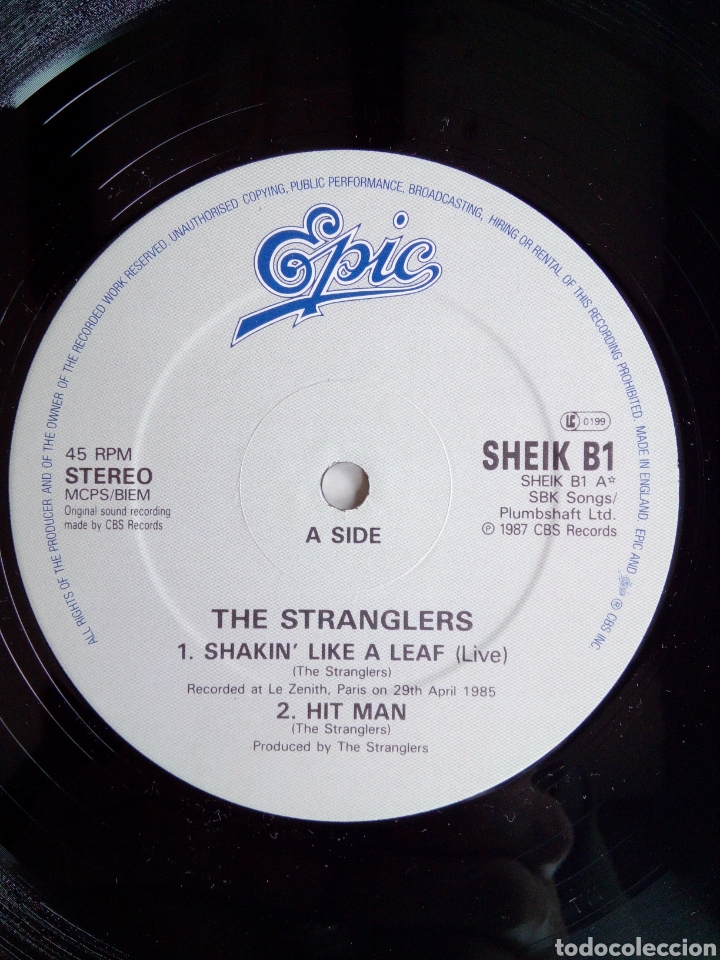 Discos de vinilo: The Stranglers - Shakin like a leaf, Epic, 1987. England. - Foto 4 - 171238964