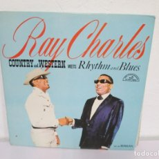 Discos de vinilo: RAY CHARLES. COUNTRY AND WESTERN MEETS RHYTHM AND BLUES. LP VINILO. ABC PARAMOUNT.. Lote 171244387