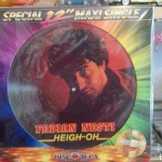 Discos de vinilo: FABIAN NESTI HEIGH OH. SPECIAL 12 MAXI SINGLE. DISCOTECA RÉCORDS. ITALO DISCO - NUEVO. Lote 171248849