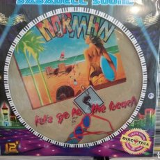 Discos de vinilo: NORMAN - LET'S GO TO THE BEACH - LENROY CIAO CIAO GIGOLO. MAXI SINGLE PICTURE DISC. NUEVO. Lote 171249603