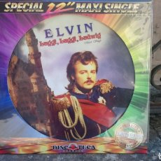 Discos de vinilo: ELVIN - LUGGI, LUGGI, LUDWIG / MOZZART-JASMIN CHINA GIRL -MAXI SINGLE PICTURE DISC-NUEVO-ELECTRÓNICA. Lote 171251015