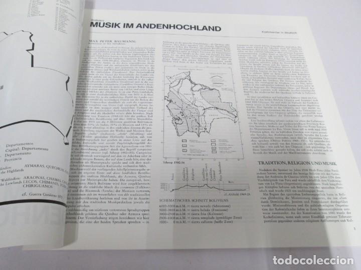 Discos de vinilo: MUSIK IM ANDENHOCHLAND. BOLIVIEN. 2 LP VINILO. MUSEUM COLLECTION BERLIN. VER FOTOGRAFIAS ADJUNTAS - Foto 5 - 171256734