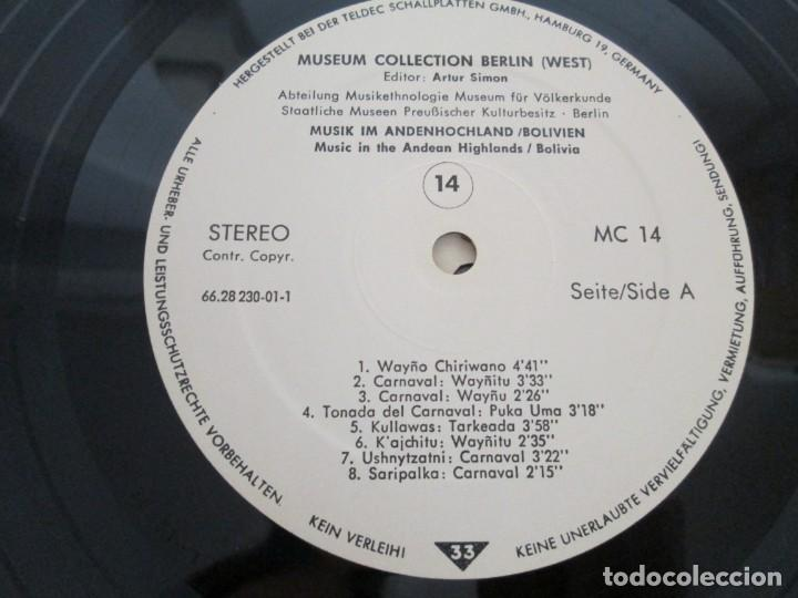 Discos de vinilo: MUSIK IM ANDENHOCHLAND. BOLIVIEN. 2 LP VINILO. MUSEUM COLLECTION BERLIN. VER FOTOGRAFIAS ADJUNTAS - Foto 13 - 171256734
