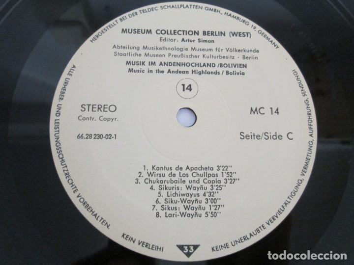 Discos de vinilo: MUSIK IM ANDENHOCHLAND. BOLIVIEN. 2 LP VINILO. MUSEUM COLLECTION BERLIN. VER FOTOGRAFIAS ADJUNTAS - Foto 17 - 171256734