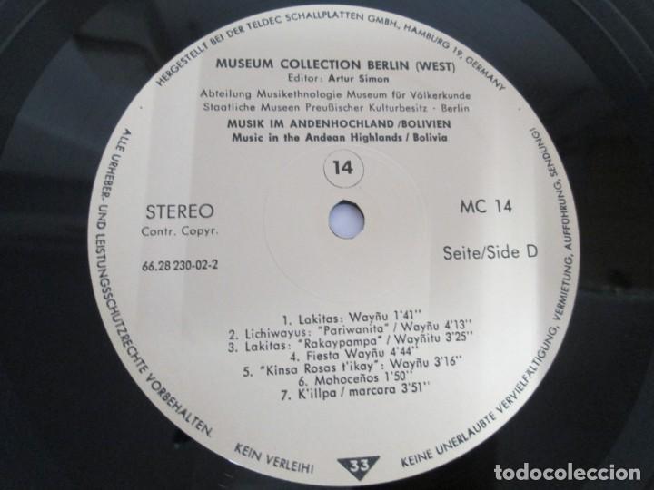 Discos de vinilo: MUSIK IM ANDENHOCHLAND. BOLIVIEN. 2 LP VINILO. MUSEUM COLLECTION BERLIN. VER FOTOGRAFIAS ADJUNTAS - Foto 19 - 171256734