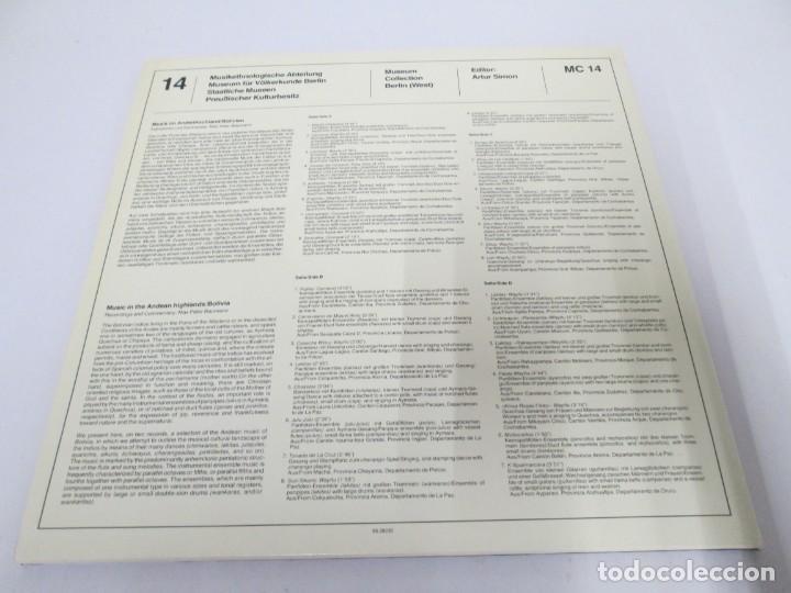 Discos de vinilo: MUSIK IM ANDENHOCHLAND. BOLIVIEN. 2 LP VINILO. MUSEUM COLLECTION BERLIN. VER FOTOGRAFIAS ADJUNTAS - Foto 20 - 171256734