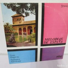 Discos de vinilo: GRAN ORQUESTA SINFONICA AMERICANA. MELODIAS DE ESPAÑA. LP VINILO. MIZAR 1967. VER FOTOGRAFIAS. Lote 171257415