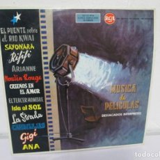 Discos de vinilo: MUSICA DE PELICULAS. LP VINILO. RCA. 1962. CORONEL BOOGEY. SAYONARA. LE RIFIFI... VER FOTOGRAFIAS. Lote 171258764