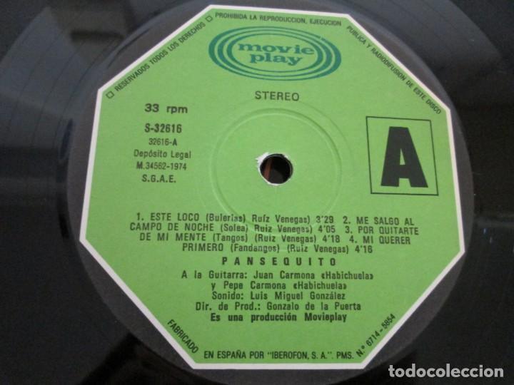 Discos de vinilo: PANSEQUITO. LP VINILO. MOVIEPLAY. 1974. VER FOTOGRAFIAS ADJUNTAS - Foto 5 - 171259139