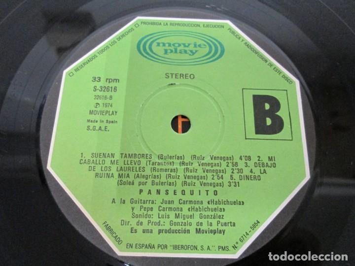 Discos de vinilo: PANSEQUITO. LP VINILO. MOVIEPLAY. 1974. VER FOTOGRAFIAS ADJUNTAS - Foto 7 - 171259139