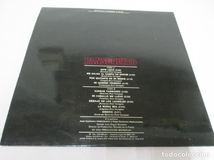 Discos de vinilo: PANSEQUITO. LP VINILO. MOVIEPLAY. 1974. VER FOTOGRAFIAS ADJUNTAS - Foto 9 - 171259139