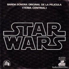Discos de vinilo: BSO LA GUERRA DE LAS GALAXIAS - TEMA CENTRAL + CANTINA BAND SINGLE SPAIN 1977. Lote 171279023