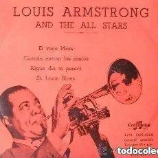 Discos de vinilo: LOUIS ARMSTRONG - EL VIEJO MOSE + 3 (EP). Lote 171292454