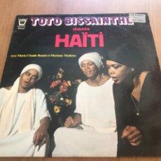 Discos de vinilo: TOTO BISSAINTHE. HAITÍ.. Lote 171319443