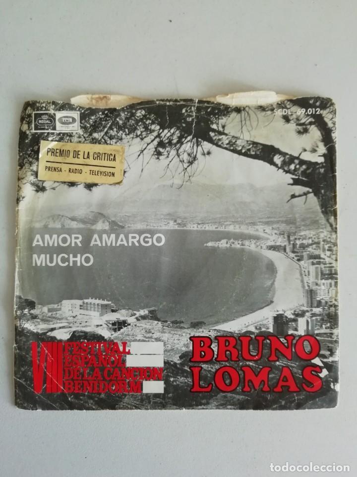BRUNO LOMAS VIII FESTIVAL ESPAÑOL DE LA CANCION DE BENIDORM (Música - Discos - Singles Vinilo - Solistas Españoles de los 50 y 60)