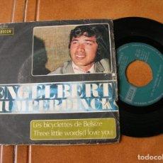 Discos de vinilo: DISCO DE ENGELBERT HUMPERDINCK ,LES BICICLETTES DE BELSIZE,Y THREE. Lote 171350225