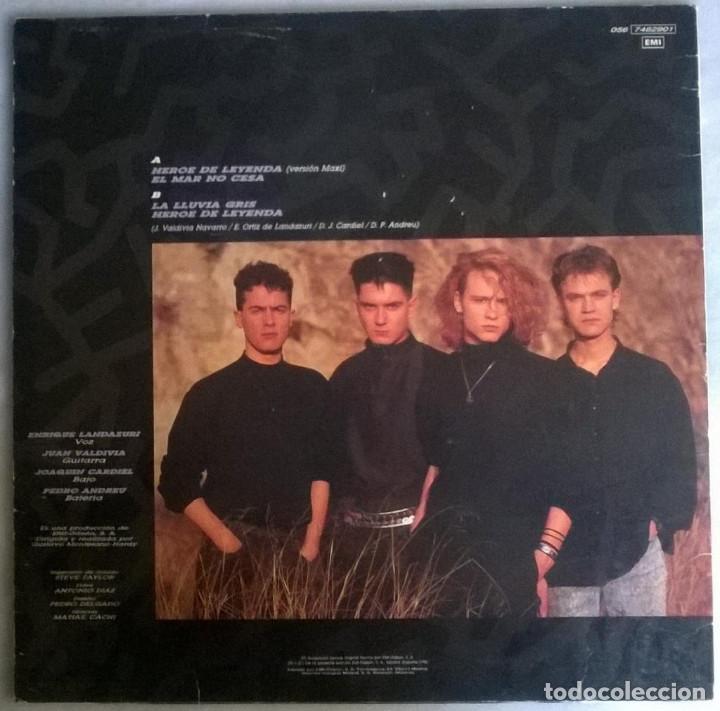 Discos de vinilo: Heroes del Silencio. Héroe de leyenda. Emi-Odeon, Spain 1987 Maxi-LP (056-7482901) - Foto 2 - 171357002