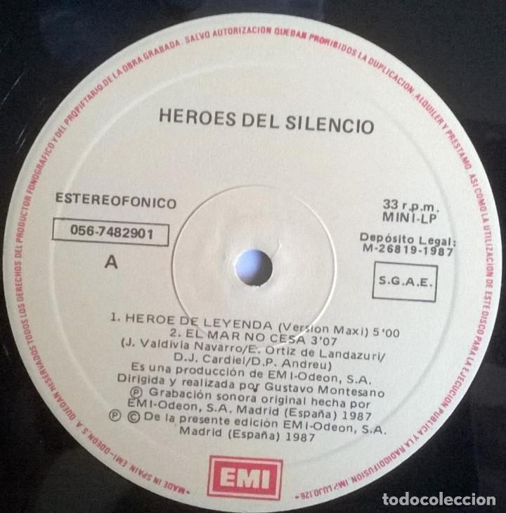 Discos de vinilo: Heroes del Silencio. Héroe de leyenda. Emi-Odeon, Spain 1987 Maxi-LP (056-7482901) - Foto 3 - 171357002