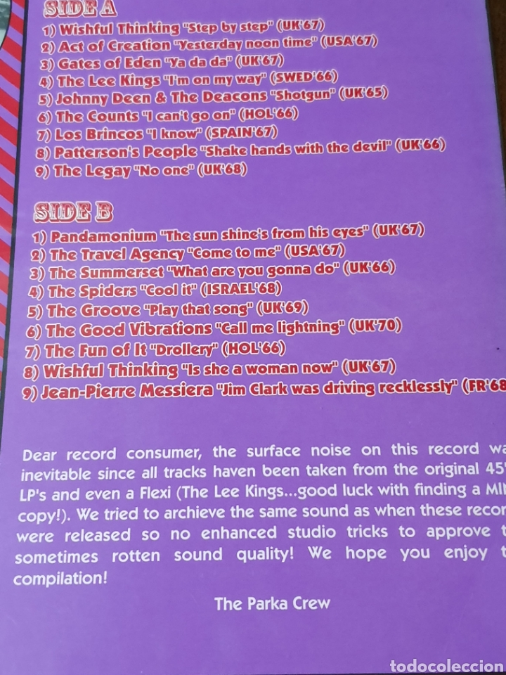 Discos de vinilo: Various ?– Red With Purple Flashes Vol. 2, Parka 2000. compilation.de originales. - Foto 5 - 171359348