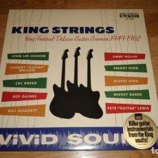 Discos de vinilo: KING STRINGS LP KING FEDERAL DELUXE GUITAR GROOVES 1949-1962,USA 2014-JOHN LEE HOOKER. Lote 171378118