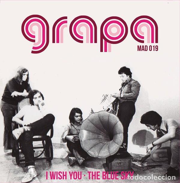 SINGLE GRAPA - I WISH YOU - THE BLUE SKY / VINILO / EDICIÓN OFICIAL MADMUA RECORDS 2019 / NUEVO (Música - Discos - Singles Vinilo - Grupos Españoles de los 70 y 80)