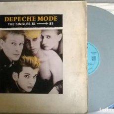 Discos de vinilo: DEPECHE MODE. THE SINGLES 81-85. MUTE (INT 146.817), GERMANY 1985 LP + ENCARTE (GREY VINYL). Lote 171435270