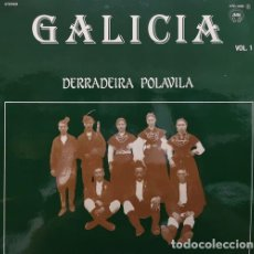 Discos de vinilo: DERRADEIRA POLAVILA - GALICIA VOL 1 - LP DE VINILO FOLKLORE GALLEGO #. Lote 171444217
