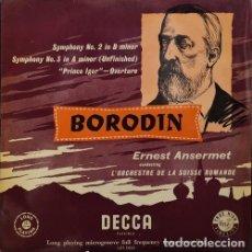 Dischi in vinile: BORODIN - SINFONIA Nº 2 Y Nº 3 + OBERTURA PRINCIPE IGOR ERNEST AMERSET LP L'ORCHESTRE SUISSE ROMANDE. Lote 171445963