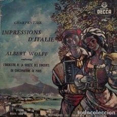 Dischi in vinile: CARPENTIER - IMPRESIONES DE ITALIA - DIRIGIDA POR ALBERT WOLFF - LP #. Lote 171446887