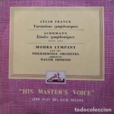 Dischi in vinile: MOURA LIMPAY & PHILARMONIA ORCHESTRA - WALTER SUSSKIND - CESAR FRANCK - SCHUMANN - LP #. Lote 171449134