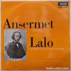 Discos de vinilo: ERNEST ANSERMET Y LA ORQUESTA DE LA SUISSE ROMANDE - LALO - NAMOUNA / DIVERTIMENTO / RAPSODIA LP #. Lote 171450484