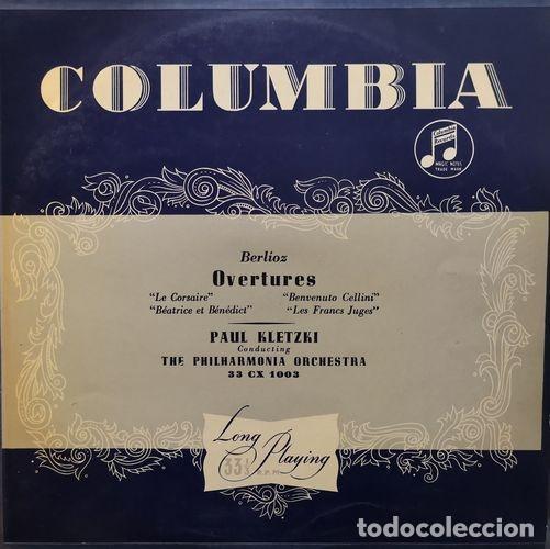 PAUL KLETZKI & THE PHILARMONIA ORCHESTRA - BERLIOZ OVERTURES - LP # (Música - Discos - LP Vinilo - Clásica, Ópera, Zarzuela y Marchas)