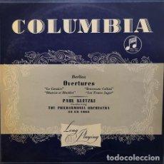 Dischi in vinile: PAUL KLETZKI & THE PHILARMONIA ORCHESTRA - BERLIOZ OVERTURES - LP #. Lote 171450908
