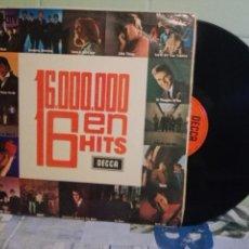 Discos de vinilo: VARIOS - POP 60'S 16.000.000 EN 16 HITS. LP SPAIN 1965 PEPETO TOP . Lote 171454387